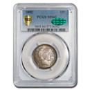 1892 Barber Quarter MS-66 PCGS CAC