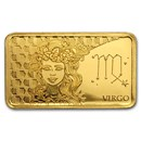 2020 Solomon Islands 1/2 Gram Gold Zodiac Ingot (Virgo)