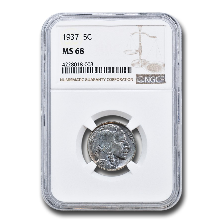 1937 Buffalo Nickel MS-68 NGC