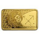 2020 Solomon Islands 1/2 Gram Gold Zodiac Ingot (Sagittarius)