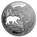 2020 Barbados 1 oz Silver Shapes of America (Grizzly Bear)