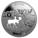 2020 Barbados 1 oz Silver Shapes of America (Moose)