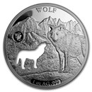 2020 Barbados 1 oz Silver Shapes of America (Wolf)