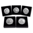 2018-P 5-Coin 5 oz Silver Burnished ATB Set (w/Box & COA)