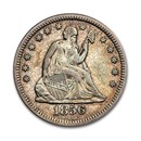 1856-O Liberty Seated Quarter XF (Details)