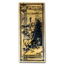 50 Utah Goldback - Aurum Gold Foil Note (24k)