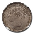 1885 Great Britain Silver Shilling Queen Victoria MS-64 NGC