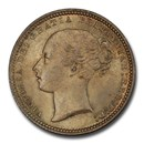 1873 Great Britain Silver Shilling Queen Victoria MS-65+ PCGS