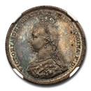 1887 Great Britain Silver Shilling Queen Victoria PR-65 NGC