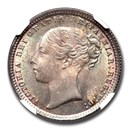 1872 Great Britain Silver Shilling Queen Victoria MS-65 NGC