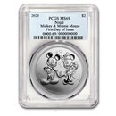 2020 Niue 1 oz Silver $2 Disney Mickey & Minnie MS-69 PCGS (FD)
