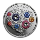 2020 Canada 1/4 oz Silver $3 Celebration of Love Floral Blooms