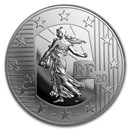 2020 Silver €10 The Sower Series Proof (The New Franc)