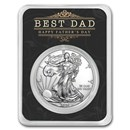2020 1 oz Silver American Eagle - Happy Father's Day - Best Dad