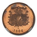 1886 H British North Borneo Bronze 1/2 Cent SP-66 NGC (Red)