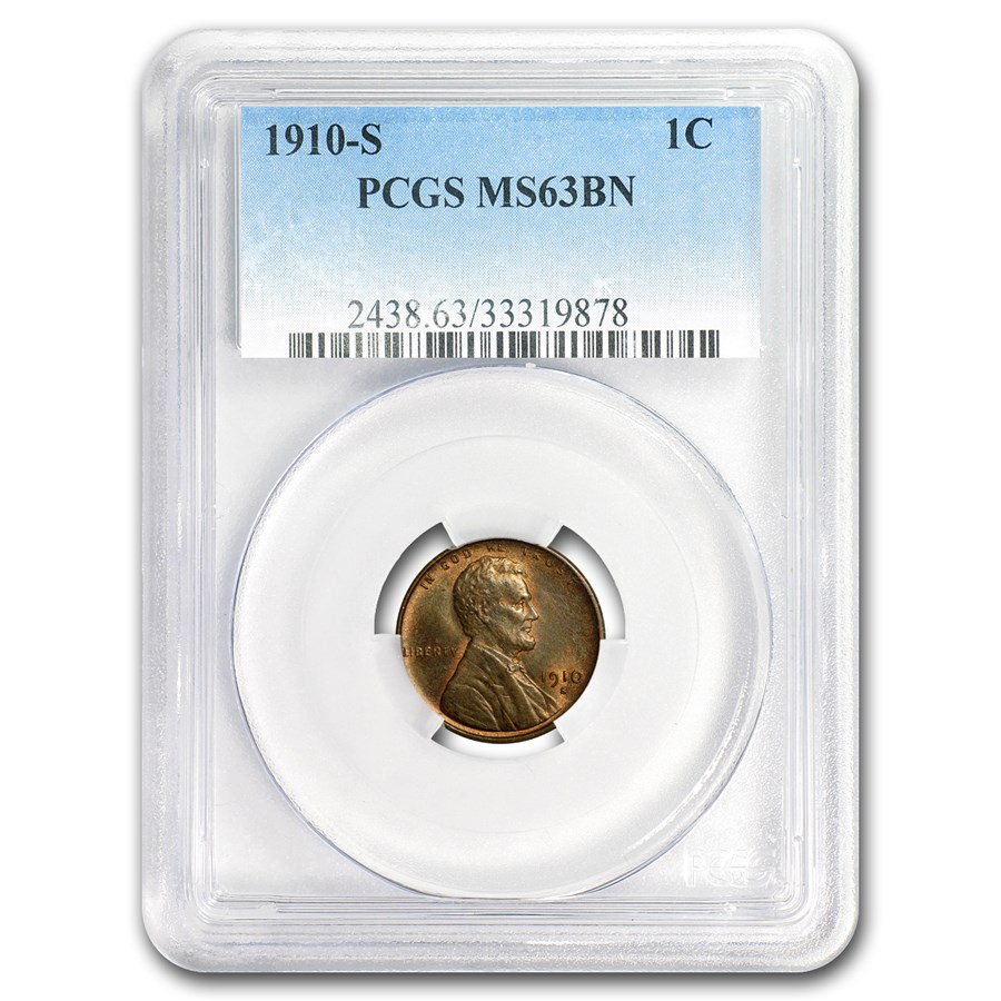 1910-S Lincoln Cent MS-63 PCGS (Brown)