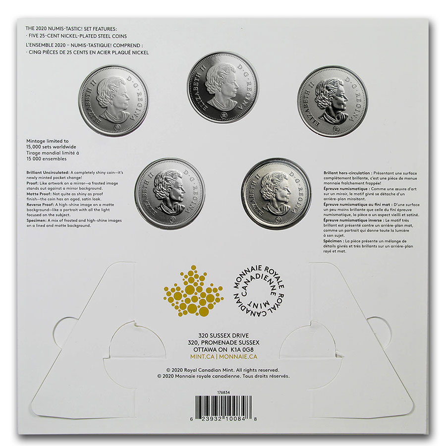 SKU#208022 2020 25-Cent Connecting Canada 3-Coin Set