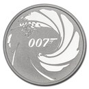 2020 Tuvalu 1 oz Silver James Bond 007 BU
