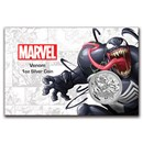 2020 Tuvalu 1 oz Silver $1 Marvel Series Venom BU (In Card)