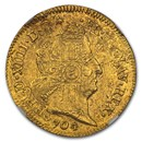 1704 France Gold Louis D'or MS-61 NGC
