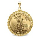 2020 1 oz Gold Eagle Pendant (Rope-ScrewTop Bezel)