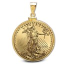 2020 1 oz Gold Eagle Pendant (Diamond-ScrewTop Bezel)
