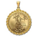 2020 1/2 oz Gold Eagle Pendant (Rope-ScrewTop Bezel)
