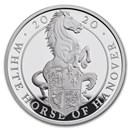 2020 GB Proof 1 oz Silver Queen's Beasts White Horse (w/Box, COA)