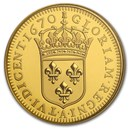 2020 RCM 1/4 oz Gold $10 Relics of New France: Louis XIV 15 SOL