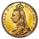 1887 Great Britain Gold Two Pounds Victoria PF-65+ NGC (UCAM)
