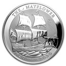 2020 BVI 5 oz Silver Mayflower 400th Anniversary BU