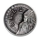 2020 Samoa 1 kilo Silver Sitting Bull Multiple Layer Coin