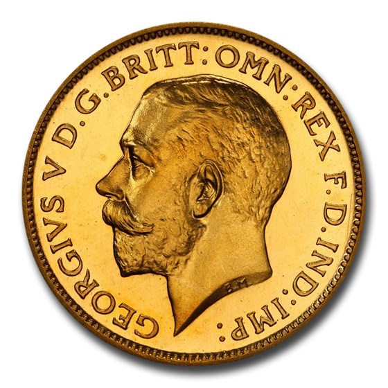 Buy 1911 Great Britain Gold 1 2 Sovereign George V Pr 66 Pcgs Cameo Online The Royal Mint