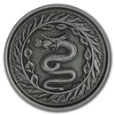 2020 Samoa 1 oz Antique Silver Serpent of Milan BU