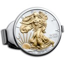2020 1 oz Gilded Silver American Eagle Money Clip