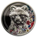 2020 Mongolia 1 oz Silver Woodland Spirits (Raccoon Dog)