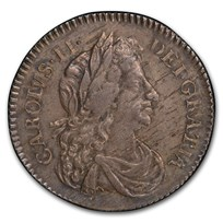 1681 Great Britain Silver 6 Pence Charles II AU-55 PCGS