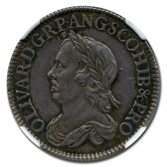 1658 Commonwealth Silver Shilling Oliver Cromwell MS-63 NGC