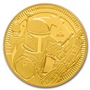 2020 Niue 1 oz Gold $250 Star Wars: Boba Fett BU