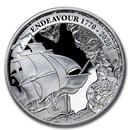 2020 AUS 1 oz Silver Voyage of Discovery Endeavour 1770-2020