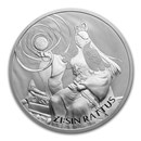 2020 South Korea 1 oz Silver ZI:SIN Rattus BU