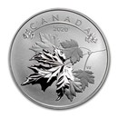 2020 Canada 1/2 oz Silver $10 O'Canada! Maple Leaves