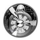 2020 Cook Islands 2 oz Silver Black Proof Airplane Propeller