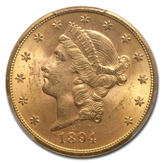 1894-S $20 Liberty Gold Double Eagle MS-63+ PCGS
