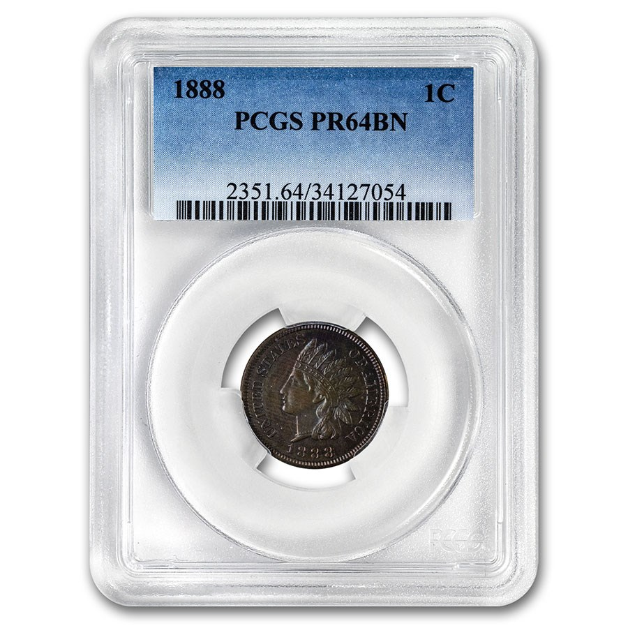 1888 Indian Head Cent PR-64 PCGS (Brown)