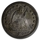 1875-S Liberty Seated Quarter VF
