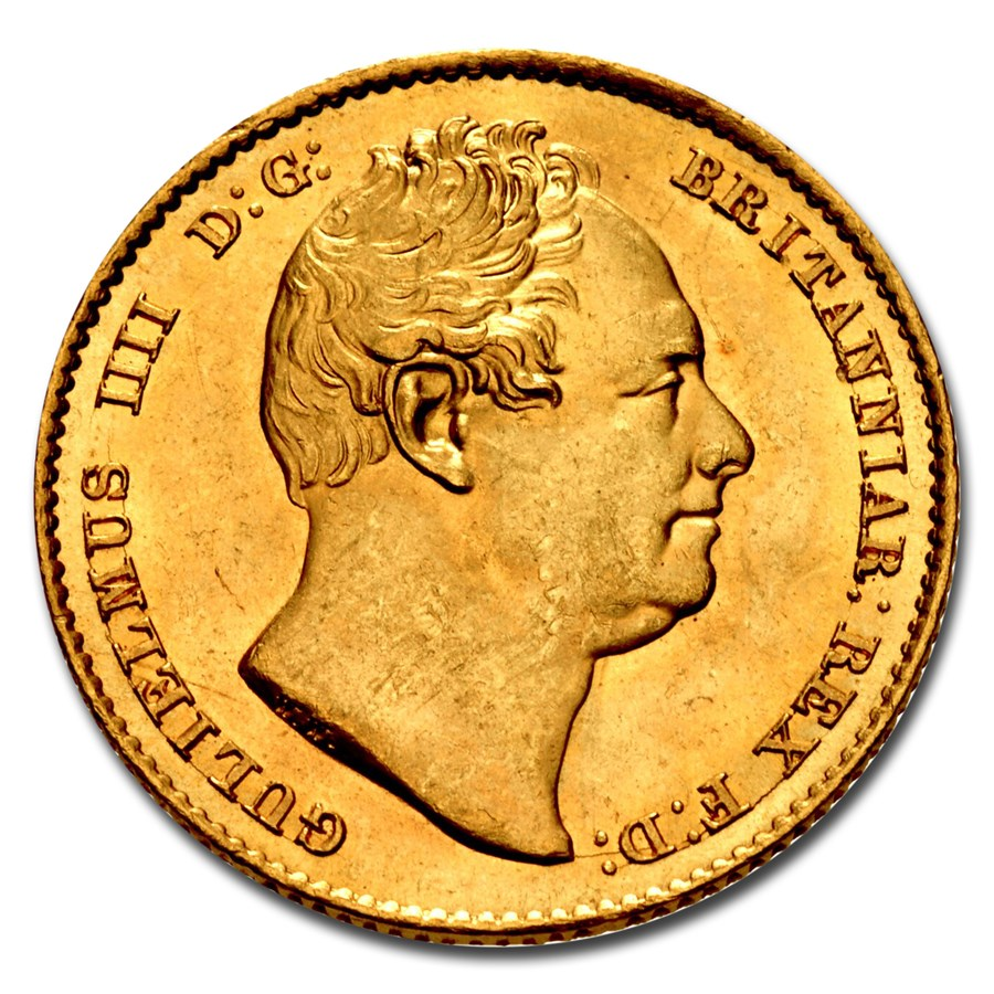 1833 Great Britain Gold Sovereign William IV MS-63 NGC