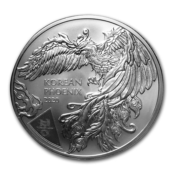 2020 South Korea 1 oz Silver Phoenix BU