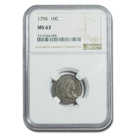 1796 Draped Bust Dime MS-63 NGC