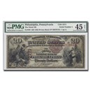 1882 Brown Back $20.00 Philadelphia, PA XF-45 PMG NET (CH#3371)